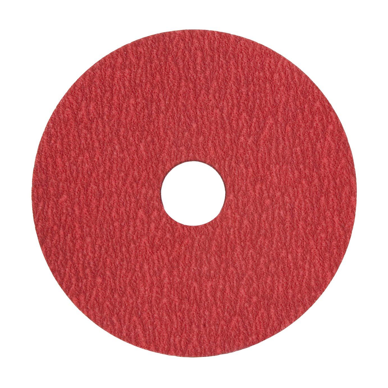 Fiber Backing 5 X 7//8 Arbor Hole Pack of 50 Medium Grade 80 Grit Ceramic Plus VSM 149554 Resin Fiber Disc Red