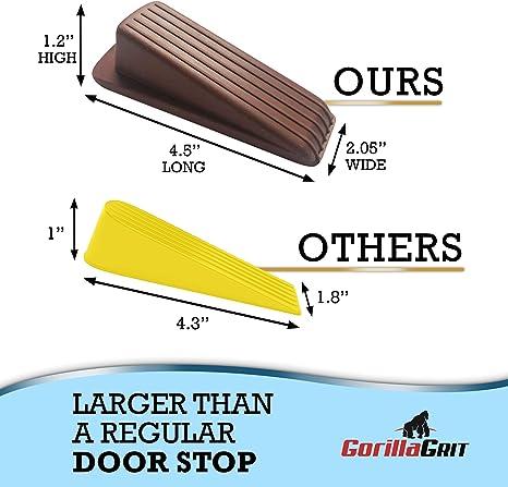 + Rubber Door Stopper Black 2 Items: Rubber Door Stopper Brown 4 PC Bundle 4 PC