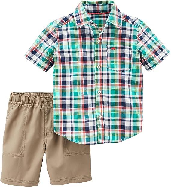 03b10f89d Amazon.com: Carter's Boys' 2T-5T 2-Pc. Shark Top and Shorts Set: Clothing