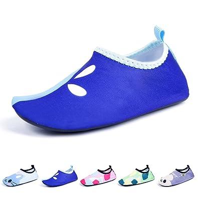 Kids Girls Boys Lightweight Swim Water Shoes Soft Barefoot Shoes Mutifunctional Quick-Dry Aqua Socks Sneaker for Beach Pool Surfing