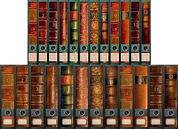 File Art – Archivadores Diseño Etiquetas – Diseño Folio para 12 Ancho + 12 estrecho