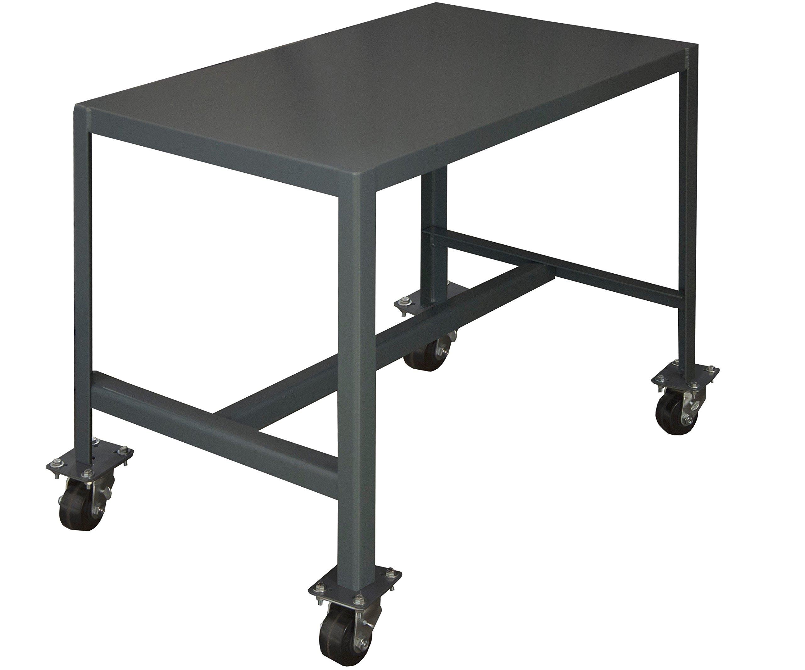 Durham Steel Mobile Medium Duty Machine Table, MTM244842-2K195,  1 Shelves,  2000 lbs Capacity,  48'' Length x 24'' Width x 42'' Height