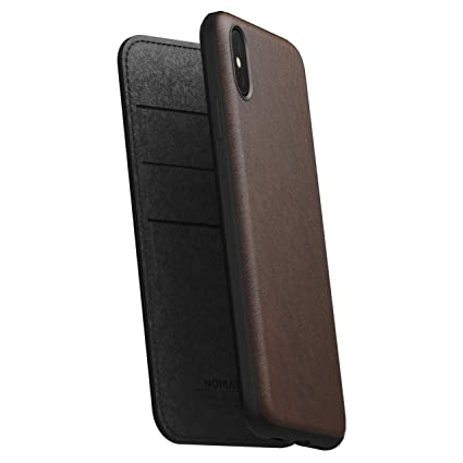best sneakers 39799 40478 Amazon.com: Nomad Rugged Folio for iPhone XS Max | Rustic Brown ...
