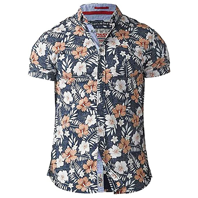 D555 Camisa Casual - Manga Corta - Para Hombre j7wvww