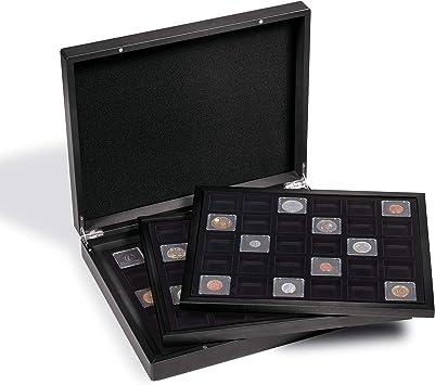 Estuche para Monedas VOLTERRA Trio para 3X 30 cáps. QUADRUM Mini, 38 x 38 mm, Negro/Negro: Amazon.es: Juguetes y juegos