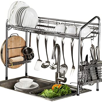PremiumRacks Professional Over The Sink Dish Rack - Fully Customizable -  Multipurpose - Large Capacity - New Product May 2017 0b96b2e51cdb
