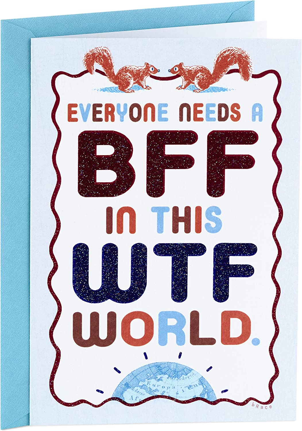 Hallmark Shoebox Funny Birthday Card, Thank You Card, Friendship Card (WTF World)
