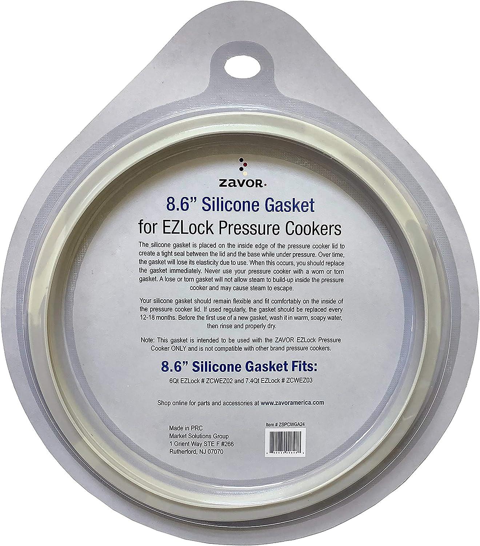 Zavor Silicone Gasket for Zavor 6 & 7.4 Quart EZLock Pressure Cookers, 8.6 Inch (ZSPCWGA24)