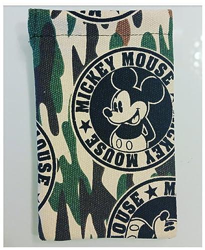Bolsa tela para guardar chupete estampado militar mickey ...