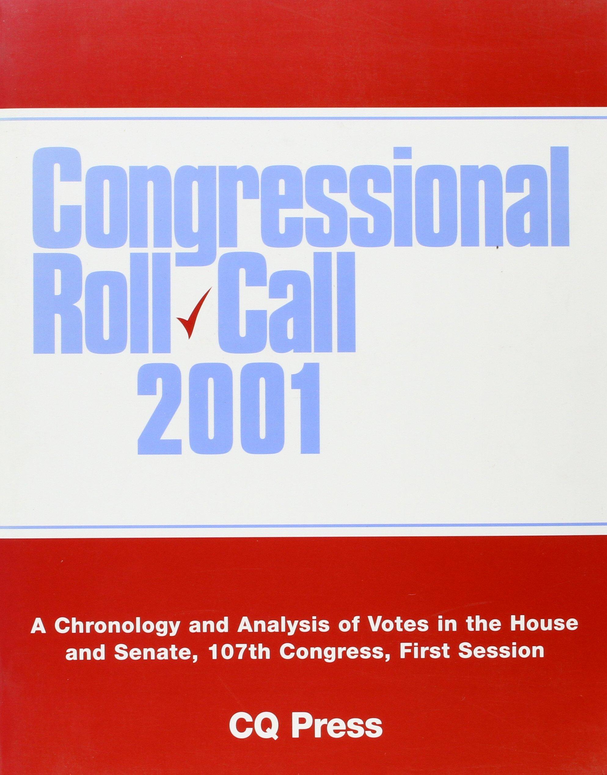 Congressional Roll Call 2001 PDF ePub book