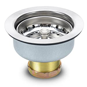 Kitchen Sink Strainer Stopper - Stainless Steel Spring Clip Kitchen Sink Drain Strainer And Stopper (Sink Drain Assembly)