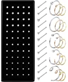 Milacolato 36-75pcs 316L Stainless Steel Nose Ring Hoop Nose Stud Piercing for Women Girls Hoop Cartilage Tragus Ear…