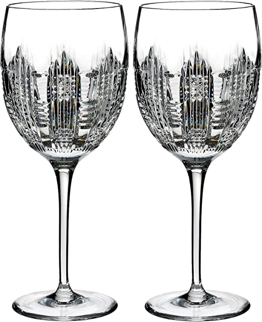 Waterford Lismore Diamond Gold Toasting Flute Pair PartialUpdate