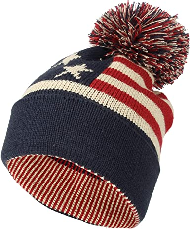 USA Vintage Canada Flag Unisex Solid Color Knit Beanie Hat Stretchy /& Soft Winter Ski Knit Caps