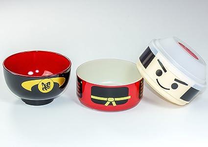 Tierra Zen Lunch Box Samurai Kokeshi Bento 50643 de Dos Pisos de la Infancia Hakoya jap/ón importaci/ón
