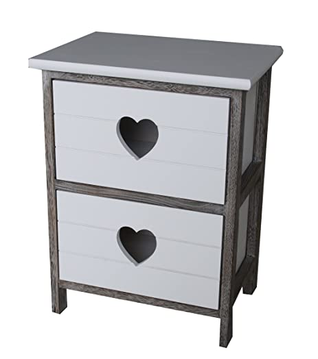 Shabby Chic Modern Wooden White Bedside Table Drawer Cabinet with ...