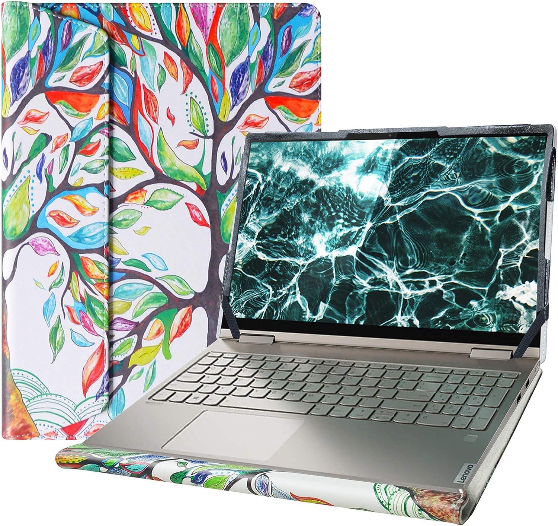 "Alapmk Protective Case Cover For 15.6"" Lenovo Yoga C740 15 C740-15IML/IdeaPad 5 15IIL05 & Dell Inspiron 15 7501 5501 5505 5508 & HP EliteBook 850 G7/HP ZBook Firefly 15 G7 & MSI PS63 Laptop,Love Tree"