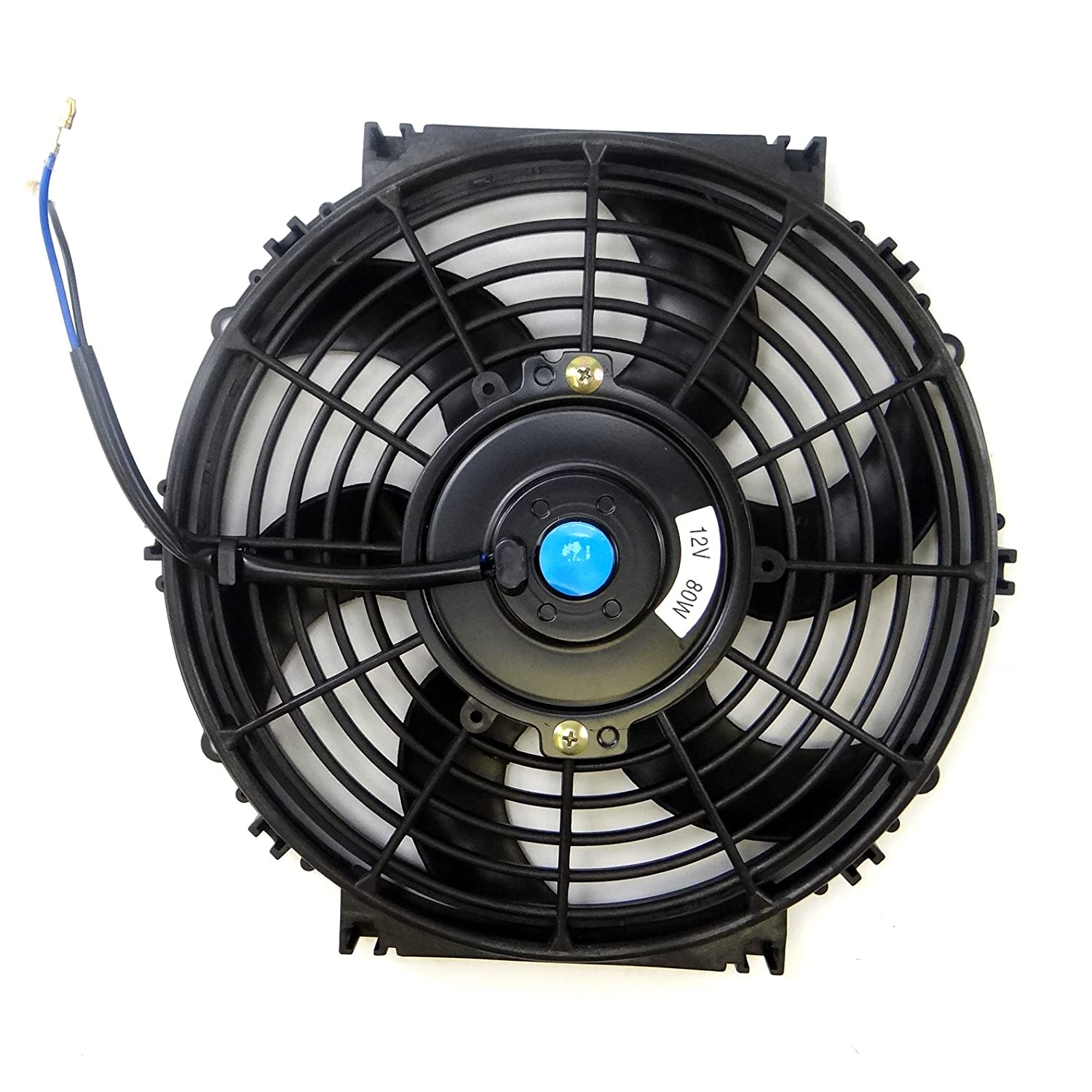Set of 2 Universal 12 inch Slim Fan Push Pull Electric Radiator Cooling 12V Mount Kit