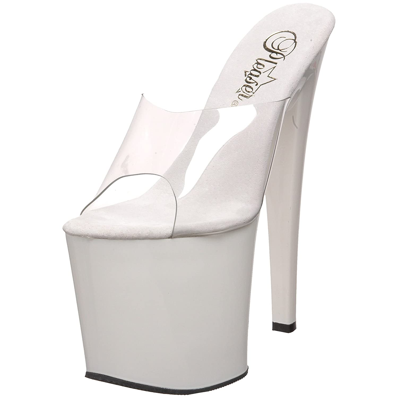 Pleaser Women's Taboo-701CW Platform Sandal B000AP1JBE 6 B(M) US|White Patent
