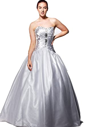 atopdress@YM6 satin BALL Evening prom sequined gown dress ball gown party dress (14