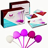 Kegel Exercise Weights : Set of 6 Premium Silicon Pelvic Floor Weights for Women. Medical Grade Weighted Exercise Balls by Kegel Angel