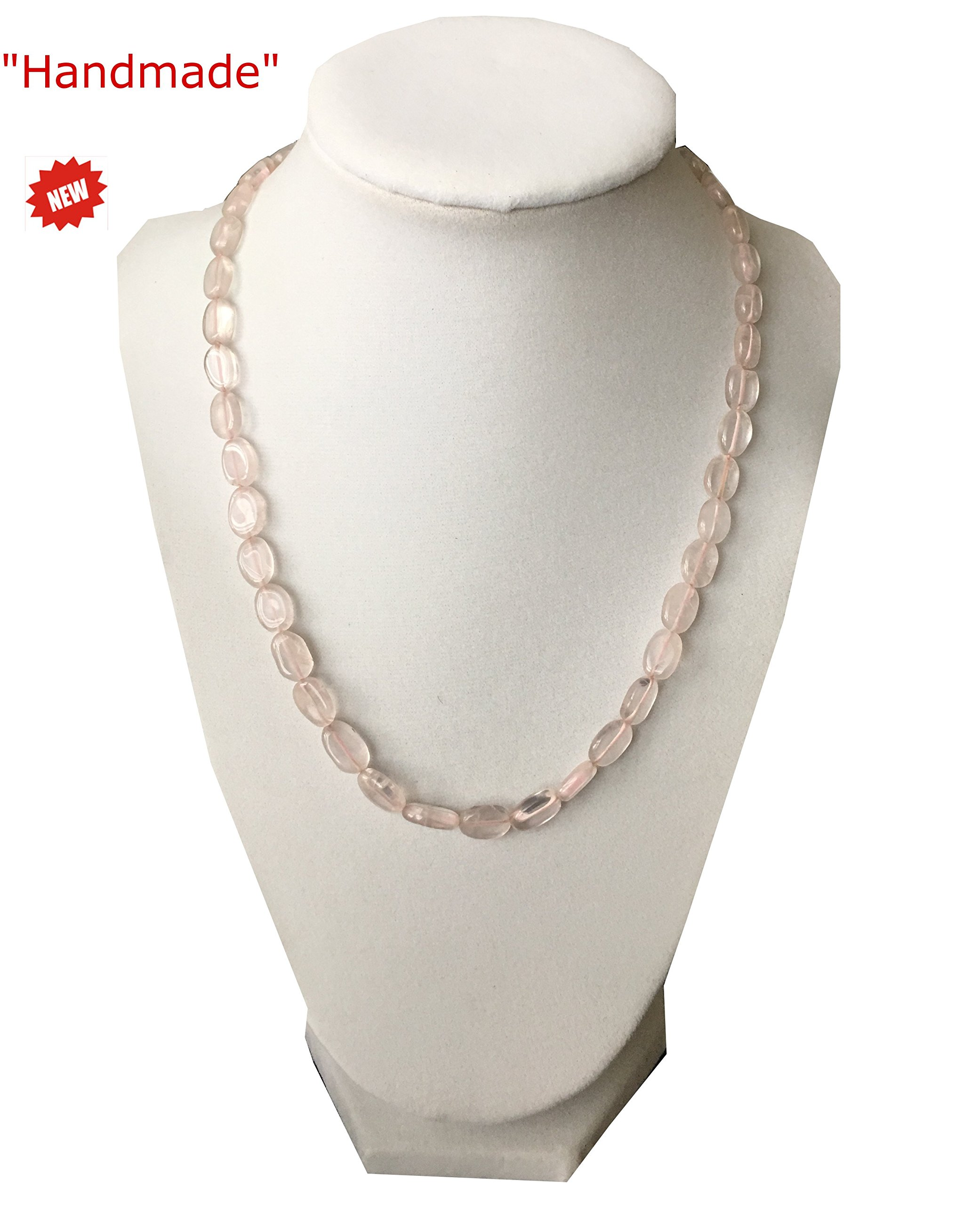 Himalayan Handmade Necklace Semi Quality White Color Transparent Gemstone Beads Comes With Gift Box