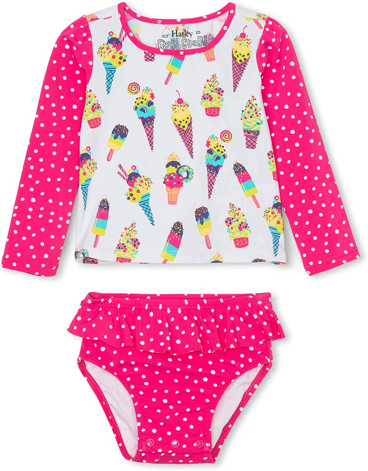 Hatley Baby-Girls Rash Guard One Piece One Piece Swimsuit