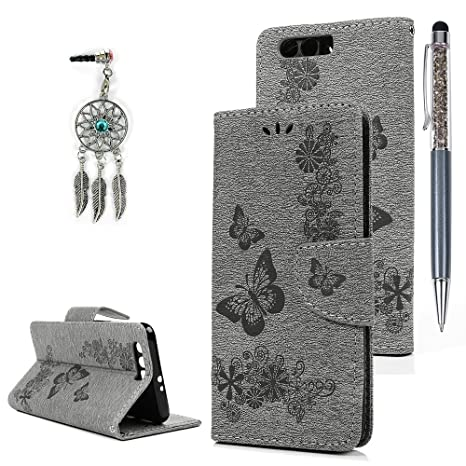 Huawei Honor 9 A prueba de golpes caso, stxmall en relieve de mariposa funda de