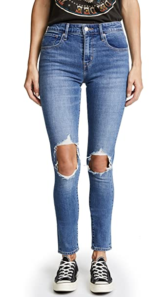 ab17e3a978 Levi's Women's 721 High Rise Distressed Skinny Jeans, Rugged Indigo