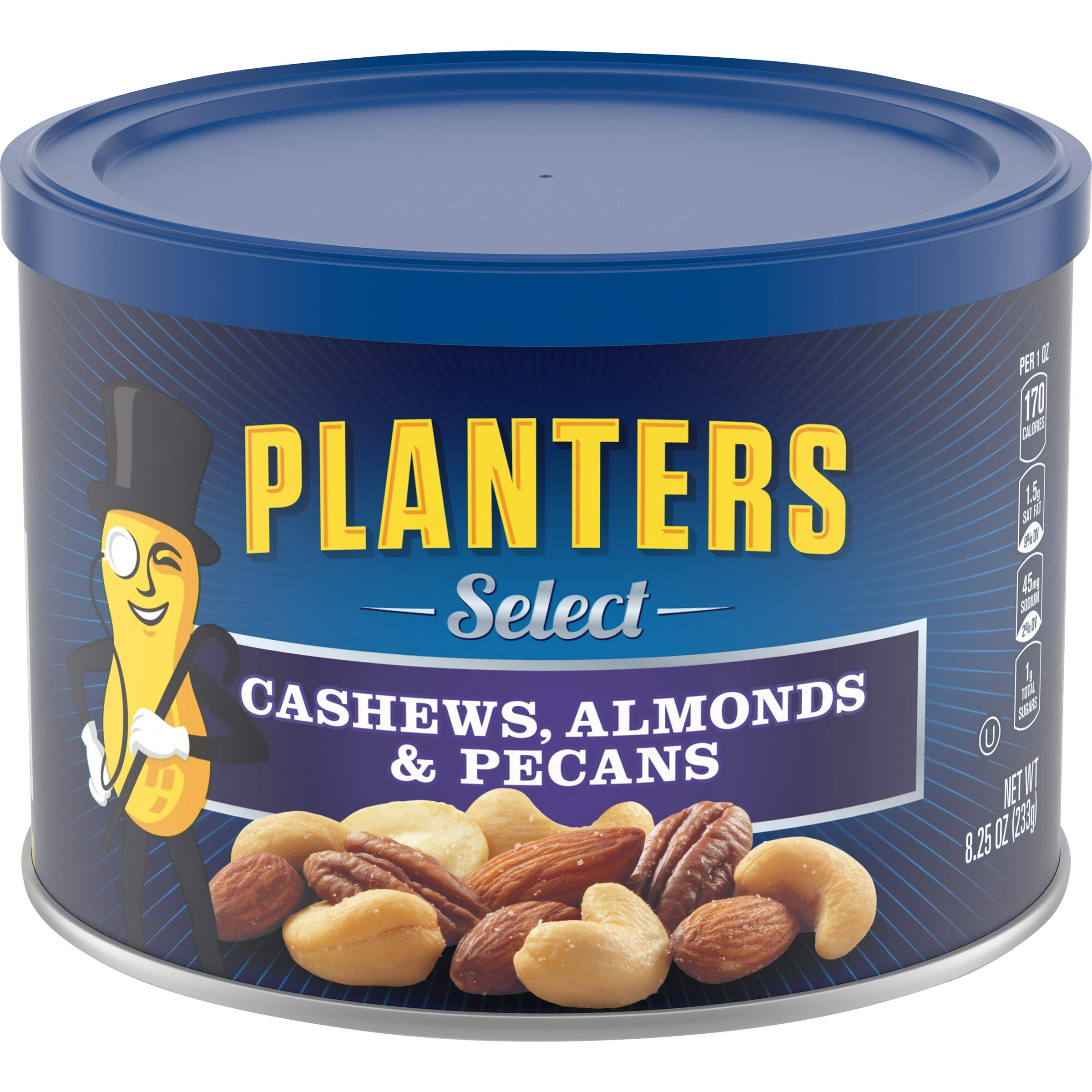Planters Select Almonds Cashews & Pecans (24.75 oz Canister, Pack of 3) by Planters