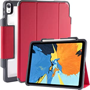 """STM Dux Plus, ultra-protective case for Apple 11"""" iPad Pro with Pencil storage - Red (stm-222-197JV-02)"""