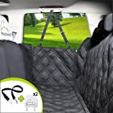 Meadowlark Dog Seat Covers Unique Design & Entire Car Protection-Doors,Headrests & Backseat. Extra Durable Zippered Side Flap, Waterproof Pet Seat Cover + Seat Belt & 2 Headrest Protectors as a Gift