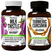 FarmHaven Milk Thistle and Turmeric Curcumin Capsules for Joint Support & Healthy Inflammatory Response,Supports Liver Function and Overall Health