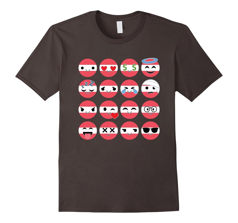 Austria Emoji Face Emotion Osterreich Shirt National T-Shirt