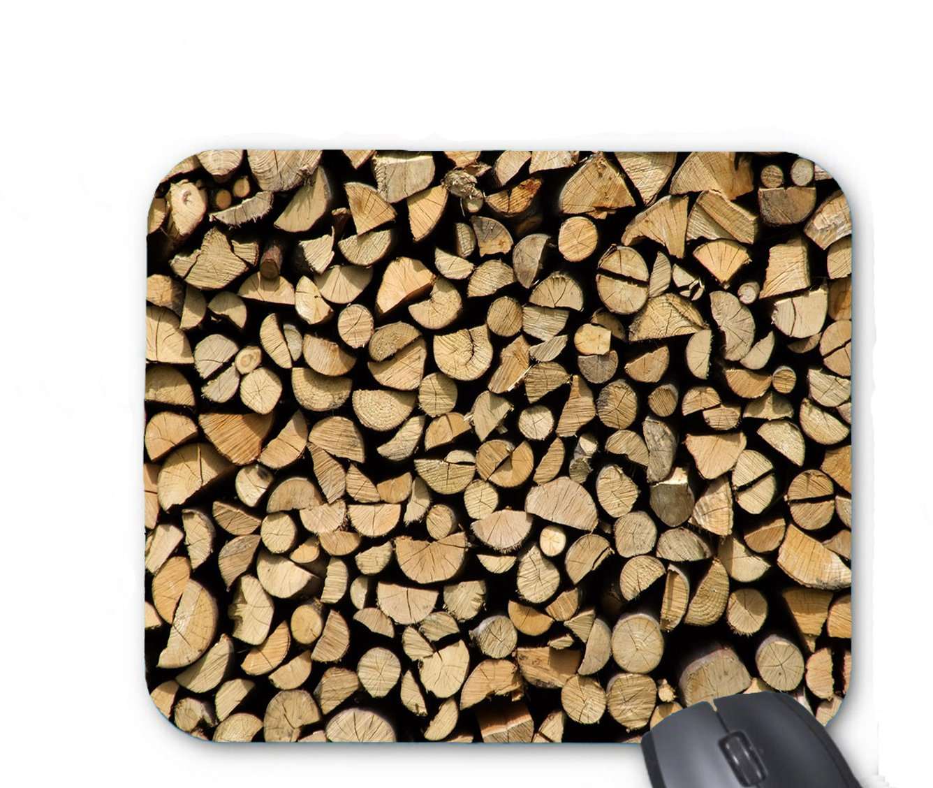 Wood piled wall picture Mouse pad 9.84 x 11.8 inch