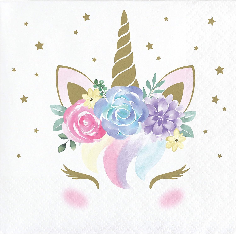 Unicorn Baby Shower Beverage Napkins, 48 ct