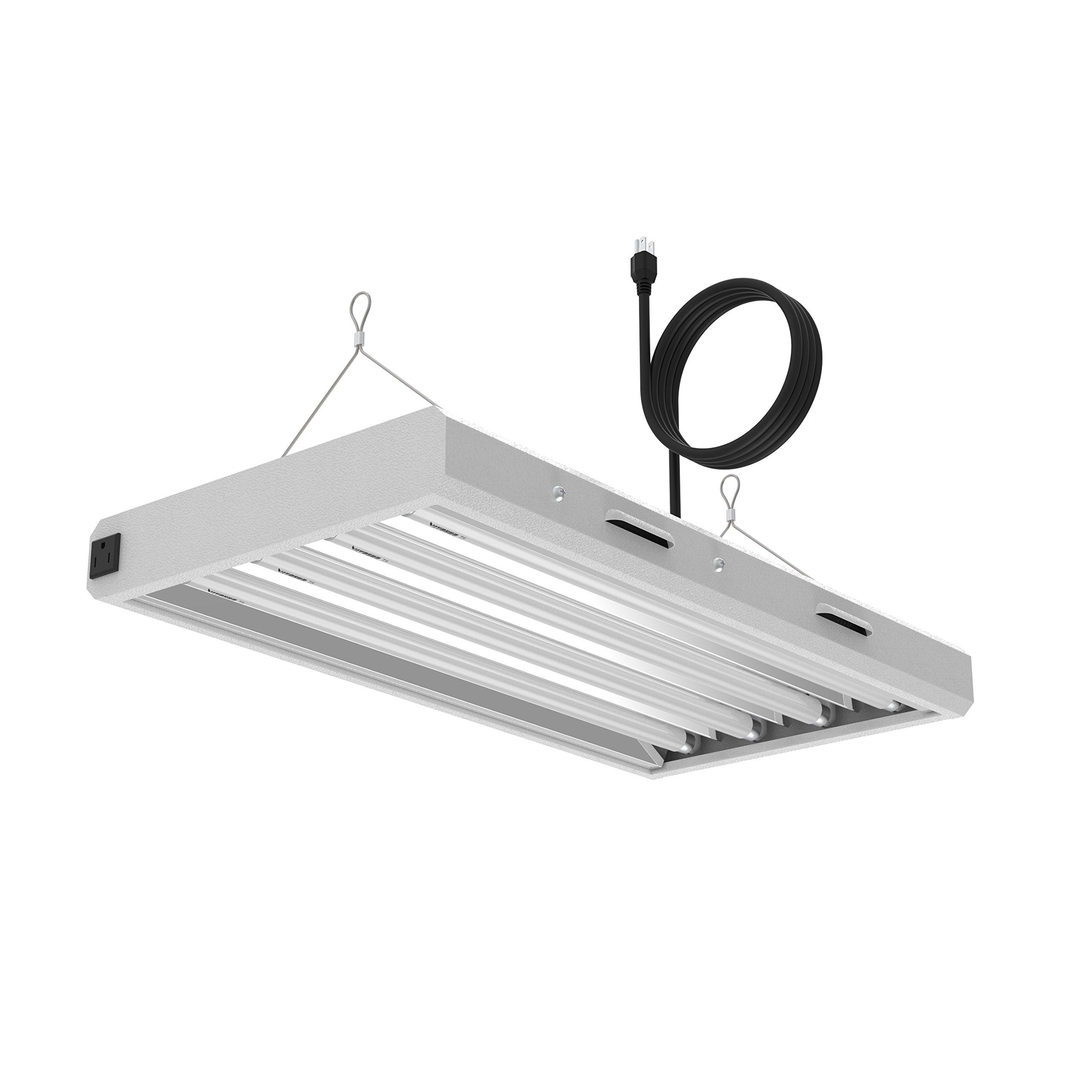 VIVOSUN 2ft 4-Lamp T5 HO Fluorescent Grow Light Fixture - UL Listed, High Output Fluorescent Tubes
