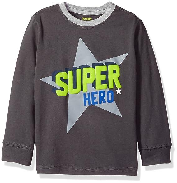 6e757343d0 Gymboree Little Boys' Toddler Long Sleeve Graphic Tee, Hero, ...