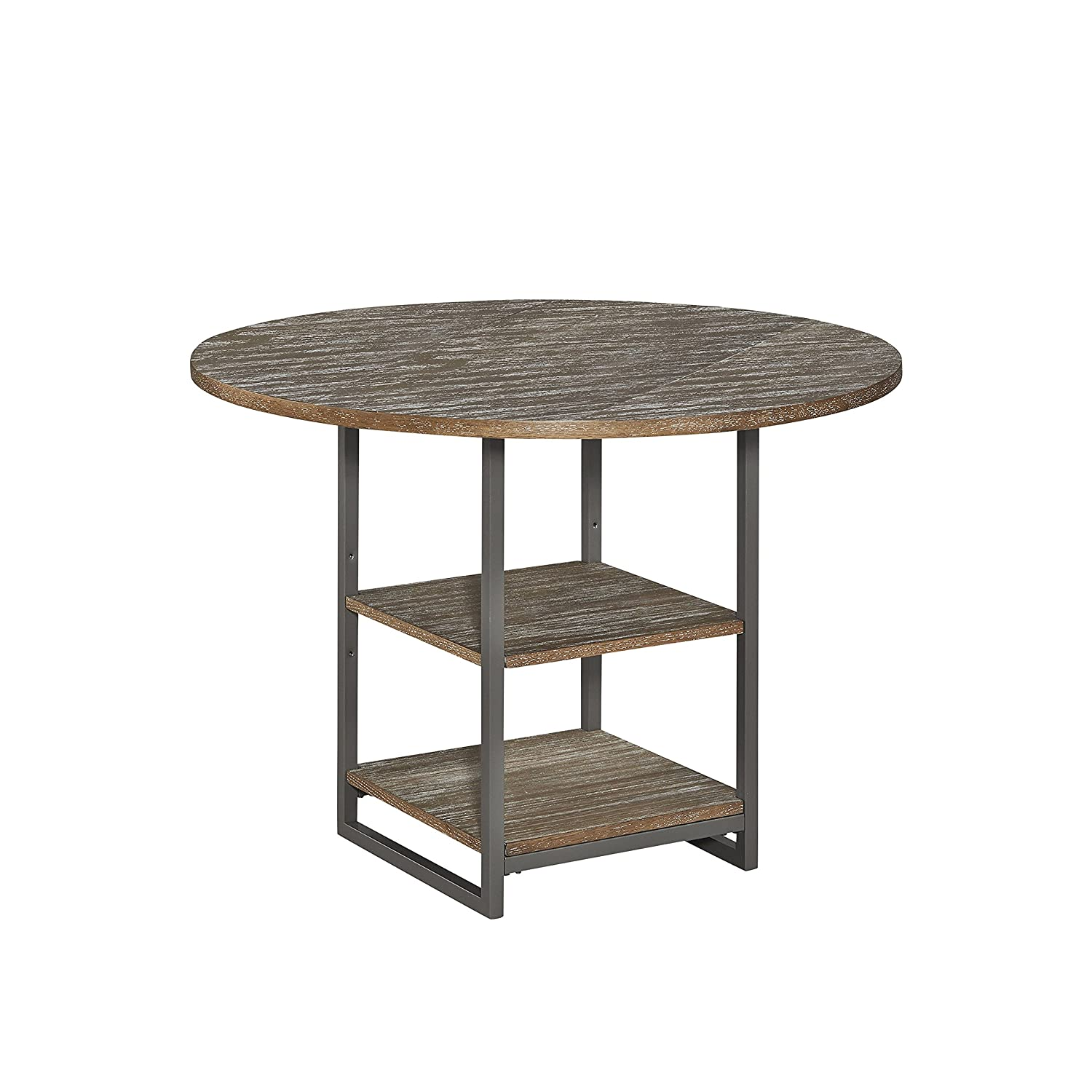 """Home Styles Barnside Metro 42"""" Round Dining Table, W-42"""", D-42"""" H-30"""", Driftwood"""