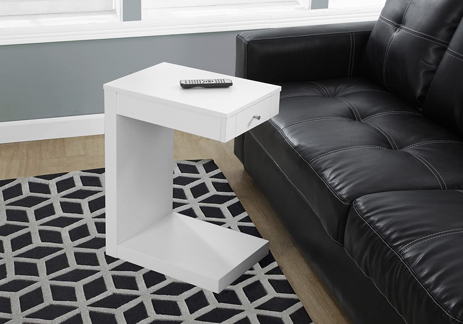 Monarch Specialties I 3192 Accent Table with A Drawer, White