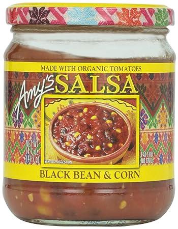Amys Salsas, Organic Black Bean & Corn Salsa, 14.7 Ounce