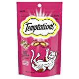 TEMPTATIONS Cat Treat Hearty Beef 85g Bag, 6 Count