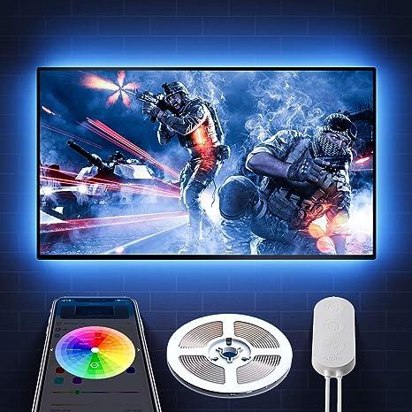 Yasolote 2M Tiras de LED RGB Iluminaci/ón Trasera para TV Barras PC 60 LED 5V USB con Control Remoto Ideal para TV de 40 a 60 Pulgadas HDTV Decoraci/ón Casera o para la Navidad