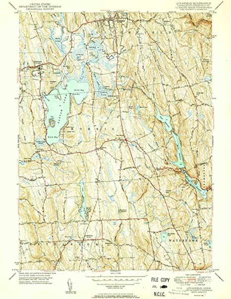 Amazon.com : YellowMaps Litchfield CT topo map, 1:31680 Scale, 7.5 X ...