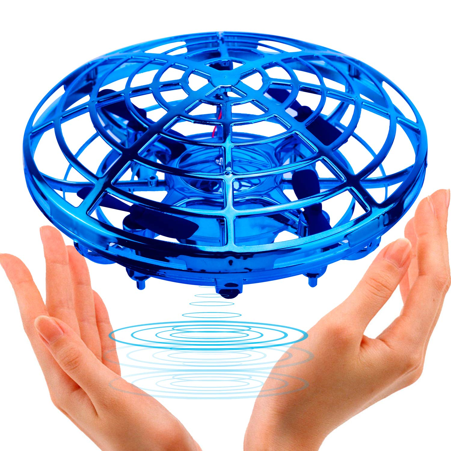 UFO Flying Ball Toys,TURN RAISE Motion Hand-Controlled Suspension Helicopter ToyInfrared Induction Interactive Drone Indoor Flyer Toyswith 360°Rotating and Flashing LED Lightsfor Kids, Boys ,Girls by TURN RAISE