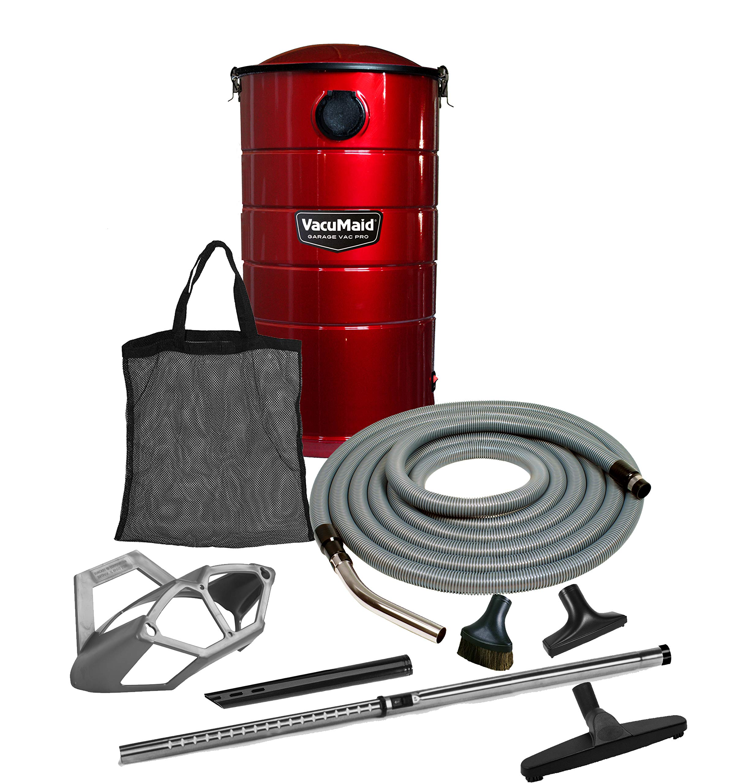 VacuMaid GV50RPRO Professional Wall Mounted Garage and Car Vacuum with 50 ft. Hose and Tools by VacuMaid
