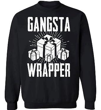 pekatees gangsta wrapper sweatshirt funny gangsta wrapper sweater ugly christmas sweaters funny christmas gift ideas black