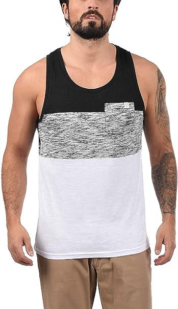 Solid Sion Camiseta Básica De Tirantes Tanque Tank Top con Estampado con Cuello Redondo De 100% algodón: Amazon.es: Ropa y accesorios