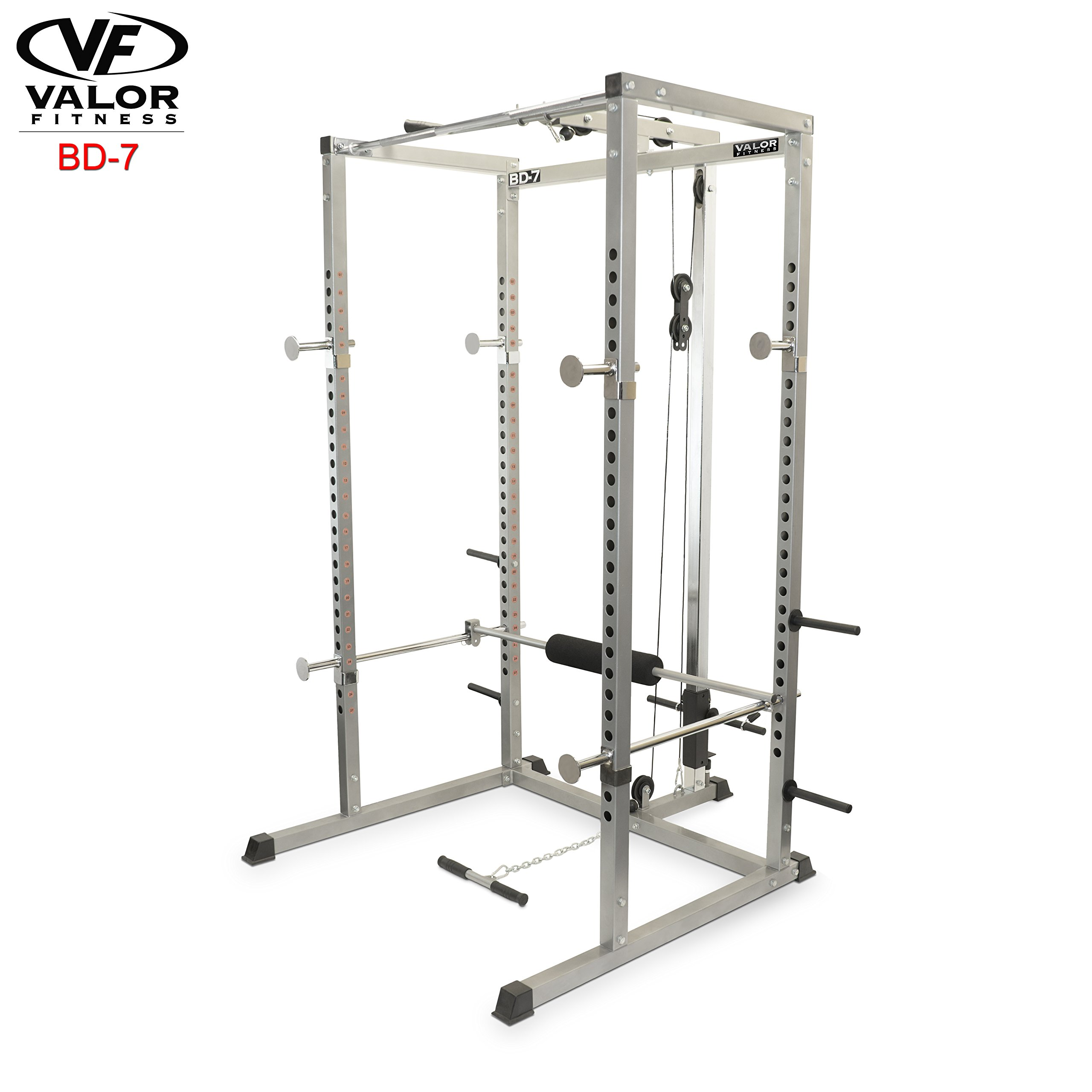 Valor Fitness BD-7 Power Rack with Lat Pull Attachment by Valor Fitness