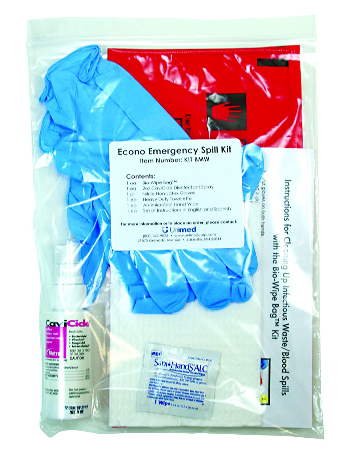 Blood spill kit | jail and correctional supplies.